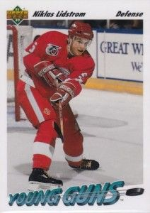 1991-92 Upper Deck Young Guns Niklas Lidstrom