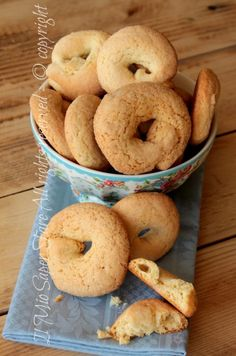 Bagels cakes inzupposi lemon and friable | Ammonia biscuits my know-how