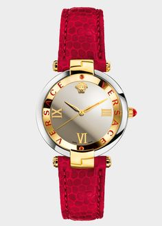 Discover the new Versace Women's Watches line. Enjoy your time with a luxury watch, available on the Versace Online Store. Latest Women Watches, Trendy Watches, Cute Watches, Elegant Watches, Beautiful Watches, Sport Watches, Watches For Men, Skeleton Watches, Silver Pocket Watch