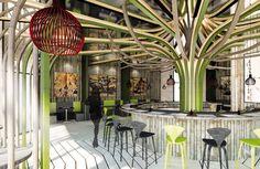 Sushi Restaurant Sushi Restaurants, Studio, Architecture, Plants, Projects, Arquitetura, Log Projects, Blue Prints, Studios