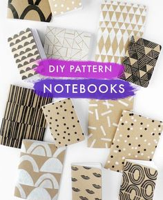 Create your own patterned notebooks!