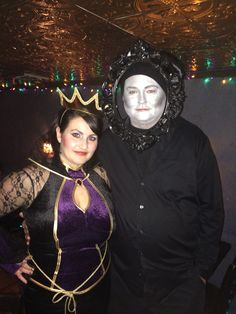 DIY couples Halloween costume My husband and I as the Evil Queen