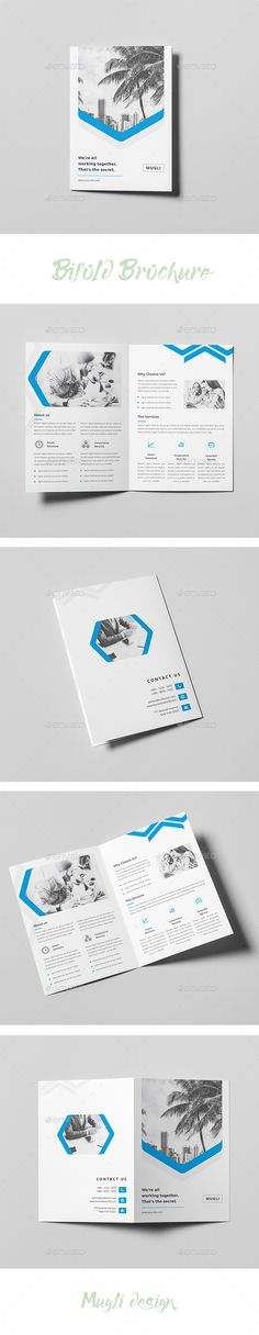 Bifold #Brochure - #Corporate Brochures Download here: https://graphicriver.net/item/bifold-brochure/20002867?ref=alena994