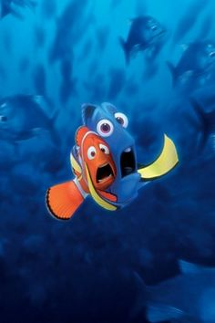Finding Nemo is actually a pixar animated studio's film. Pixar studios was bought by Disney studio's. Disney Pixar, Disney Finding Dory, Finding Nemo, Disney Magic, Disney Movies, Disney Characters, Walt Disney, Wallpaper Iphone Disney, Wallpaper Backgrounds
