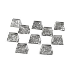 LABELS& TAGS: Ivy Lane Design 10-Pack Rhinestone Place Card Holder, Silver 10 for $22.52