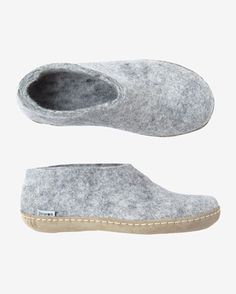 53e391063 Sturdy Danish slipper in warm, thickly felted wool. Stitched on calf  leather sole. Soft SlippersWomens ...