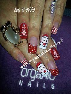 Uñas decoracion heiluz Holiday Nails, Christmas Nails, Pedicure, Nail Designs, Make Up, Nail Art, Beauty, Nail Ideas, Simple Christmas Nails