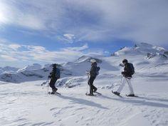 Allalinhorn er kendt som en af de lettere 4000 meter toppe i Alperne. Om vinteren er det uforglemmelig eventyr for erfarne snesko vandrere, der sigter højere! Efter en krævende, men overskuelig opstigning, venter en betagende panoramaudsigt! Afhængigt af forholdene, vil vi tage de steigeisen med os for at nå toppen. Tidligere erfaring med snesko touring kræves. Turen er krævende, så god fysisk grundlæggende form er en nødvendighed.