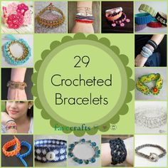 The summer is coming, and you know what that means...short sleeves and tank tops! And what better way to show off your arms than with some colorful and fun DIY bracelets? With this awesome collection of 29 Crocheted Bracelets, you're sure to find