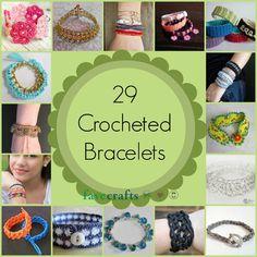 29 Crocheted Bracelets   FaveCrafts