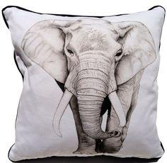 Stunning elephant cushion.