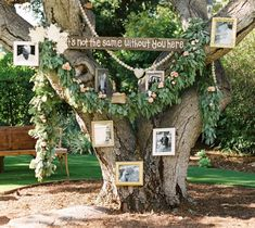 backyard wedding Remembrance tree, honoring deceased relatives at wedding, greenery wedding ideas Field Wedding, Diy Wedding, Wedding Ideas, Gown Wedding, Wedding Rings, Wedding Cakes, Wedding Dresses, Gypsy Wedding, Summer Wedding