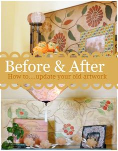 DIY:: Beautiful ! How To Update Your Art ! I never would have thought of this ! So Easy & Clever ! Fabulous Tutorial by @deb rouse schwedhelm Depew's