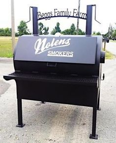 New-Commercial-BBQ-Rotisserie-Smoker-Grill-On-Stand