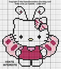 Hello Kitty Butterfly pattern