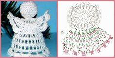 Little angel Crochet Christmas Ornaments, Christmas Angels, Christmas Decorations, Xmas, Crochet Angel Pattern, Crochet Angels, Crochet Hats, Angel Crafts, Snowflakes