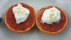 Broiled Grapefruit & Coconut Whipped Cream | Fit Fab Fodmap
