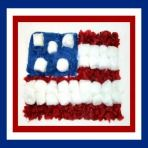 PRESIDENTS DAY: Easy Tissue Paper & Cotton Balls American Flag Craft and Celebration Song!