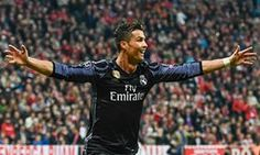 April 12th. 2017: Cristiano Ronaldo celebrates scoring in a 2-1 away win over Bayern Munich in the Champions League quarter-final first leg