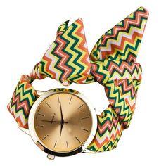 Relojes Mujer 2016 Fashion Watch Women Ladies Wave Floral Cloth Quartz Dial Bracelet Watch Wristwatch Montre Femme Wholesale
