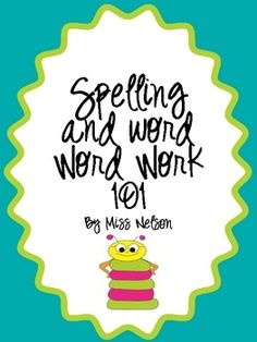 Can't wait to use these spelling and word work sheets in my class. Printing now!