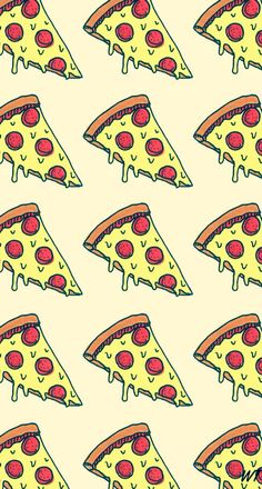 pizza, wallpaper, and background image Hipster Wallpaper, Food Wallpaper, Kawaii Wallpaper, Tumblr Wallpaper, Screen Wallpaper, Wallpaper Backgrounds, Wallpaper Ideas, Food Kawaii, Textures Patterns