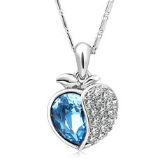 Swarovski Crystal Apple Necklace is going up for auction at 11am Thu, Apr 11 with a starting bid of $7.