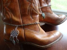 boot chains Aztec boot chains Dreamcatcher Anklets by ScarfFX