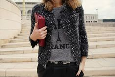 Boucle Jacket, Tweed Jacket, Tailored Jacket, Tweed Blazer, Mode Outfits, Casual Outfits, Look Fashion, Autumn Fashion, Chanel Style Jacket