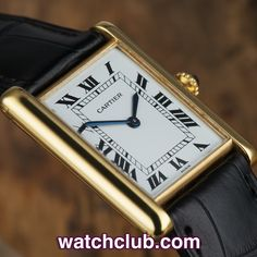 """Cartier Tank Louis Vintage - """"Yellow Gold' REF: 81720552 
