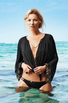 Kate Moss in the ocean