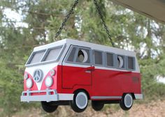 VW Bus Birdhouse by CountryTimber on Etsy