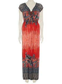 **Izabel London Coral Empire Maxi Dress - Maxi Dresses - Dresses - Dorothy Perkins