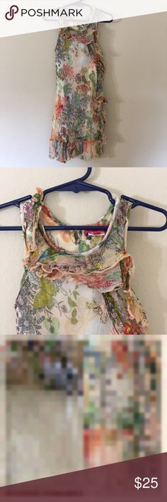 Derhy Kids Butterflies & Lace Dress Size 6/8  Condition - Pre-loved, good  Fabric - 100% viscose   Dress is lined and has cute key hole button on the back Item #SB607 Derhy Kids Dresses Casual
