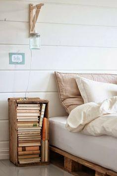 Decorar con cajas de madera recicladas!