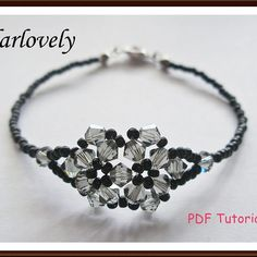 Swarovski Black DiamondTwin Flower Bracelet