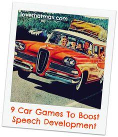9 fun car games to boost kids' speech development, from an awesome speech therapist Speech Language Pathology, Speech And Language, Speech Activities, Learning Activities, Fun Car Games, Game Tester Jobs, Toddler Speech, Test Games, Toddler Development