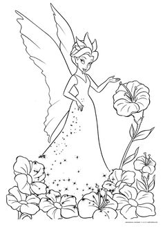 Queen Clarion Coloring Pages TinkerBell