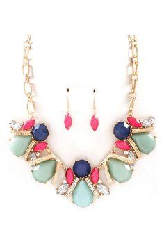 Maya Necklace in Sage Mint on Emma Stine Limited