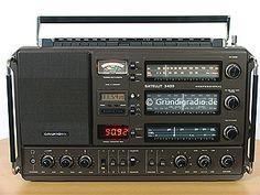 Grundig Satellit 3400 Radios, Radio Amateur, Phone Sounds, World Radio, Receptor, Kids Electronics, Antique Radio, Short Waves, Transistor Radio