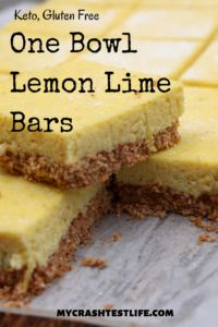 These are so simple to make and only have 1 dish to clean. Make the crust and then use the same bowl to make the topping. Lemon, lime and graham flavours make the perfect warm-weather dessert.
