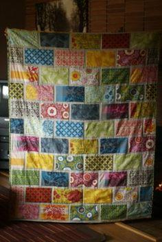 Love this color brick quilt..