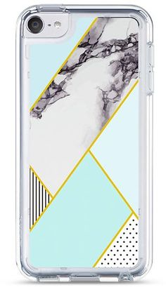 Crystal Clear Slim Case for iPod Touch 5 6 Gen - Mint Marble, Cute Ipod Cases, Ipod Touch Cases, Diy Phone Case, Iphone Case Covers, Iphone 5c, Apple Iphone, Ipod Touch 6th Generation, Aesthetic Phone Case, Bricolage