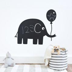 Elephant Chalkboard Sticker | JoJo Maman Bebe