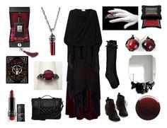 Blood Witch by maggiehemlock on Polyvore featuring moda, ADAM, Boohoo, Chicwish, even&odd, Maria Calderara, Kat Von D, Illamasqua, Kilian and Jin Soon