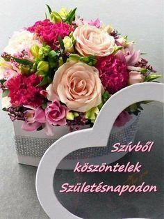 Happy Brithday, Name Day, Floral Wreath, Wreaths, Seasons, Table Decorations, Birthday, Happy B Day, Happy Birthday
