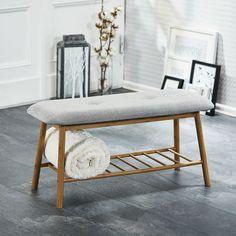 EInkaufsliste für unser Haus Bank Hemmet (lackiert, Stoff, grau) - Garderobenbänke - Flurmöbel & Garderobenmöbel - Möbel - Dänisches Bettenlager