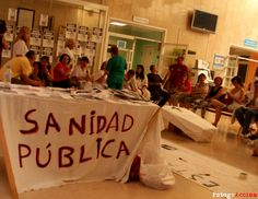 Encierro de trabajador@s el 18 de Julio en el Hospital General de Móstoles