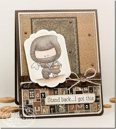 Super cute ninja themed card. #cards #card_making #scrapbooking