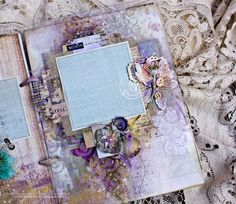 Hello everyone!) Nice to see you here. Today I want to share with you my new Mixed Media album for my Prima classes. I used new pas...